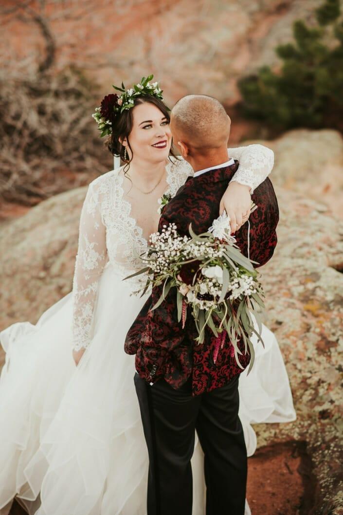 Wedding Couple Romantic Photo | Denver Colorado Elopement Photographer