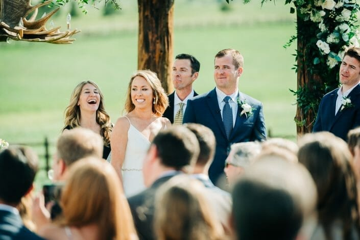 Wedding Ceremony at Spruce Mountain Ranch | Larkspur Colorado Elopement Photographer