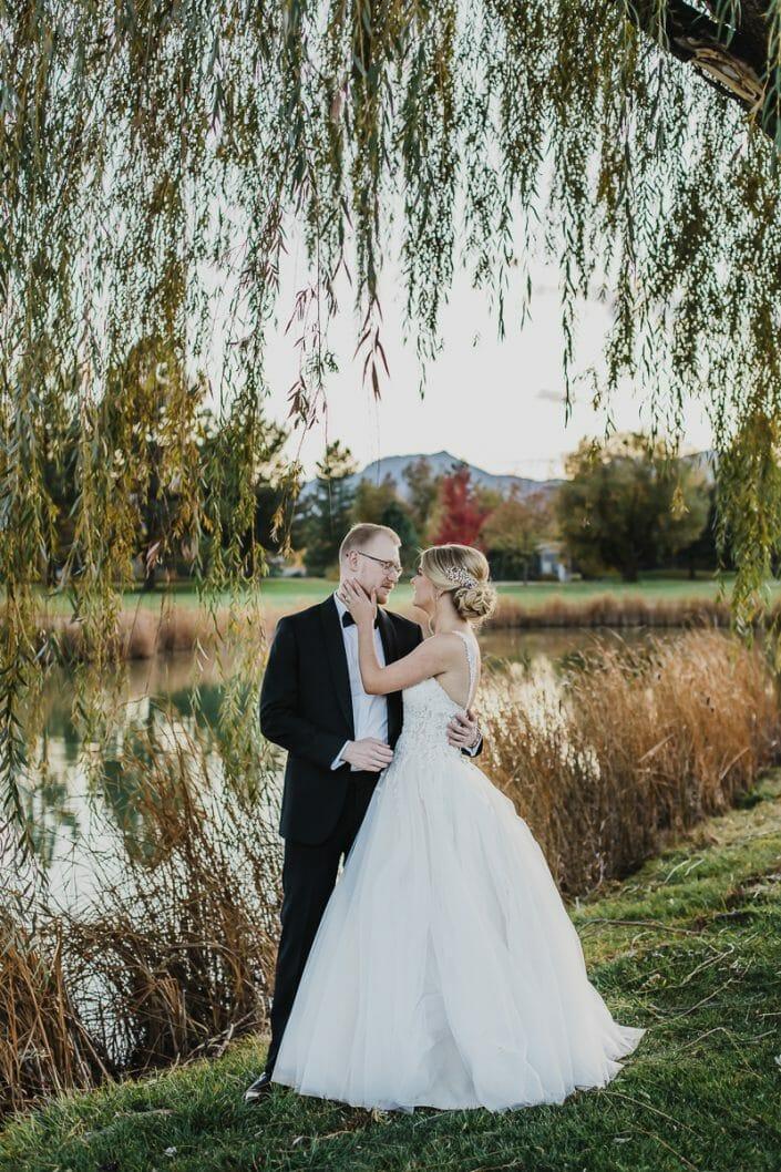 Wedding Portrait on Golf Course | Boulder Colorado Elopement Photographer