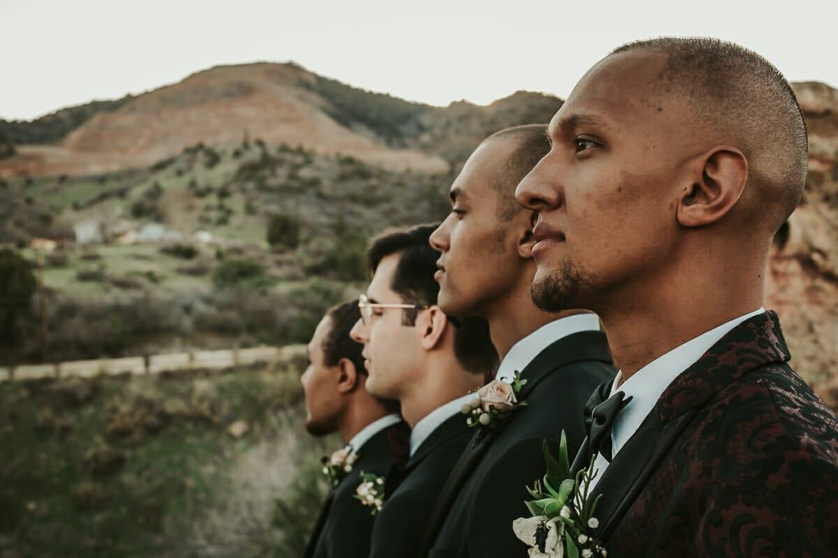 Wedding Groom with Groomsmen | Denver Colorado Elopement Photographer