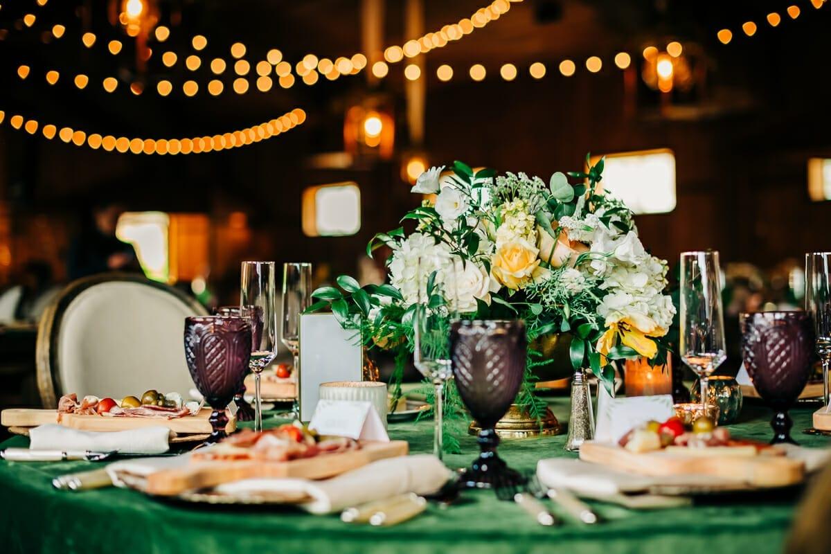Wedding Decor and Food | Larkspur Colorado Elopement Photographer