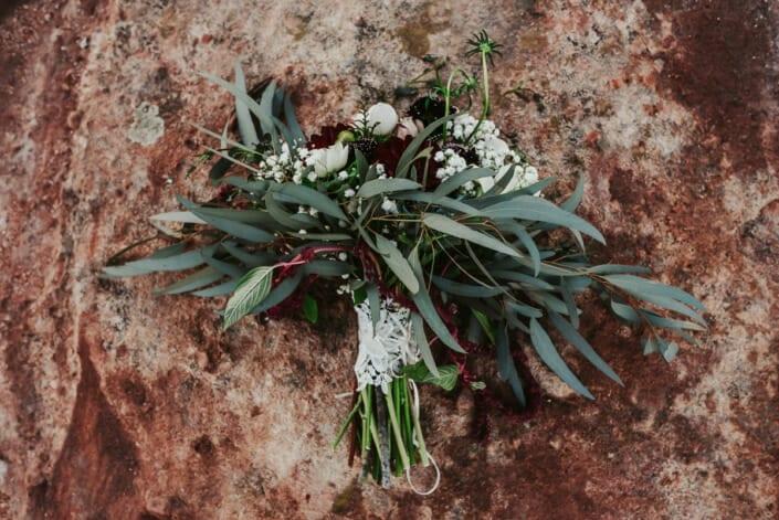 Wedding Floral Decor on Red Rocks | Denver Colorado Elopement Photographer