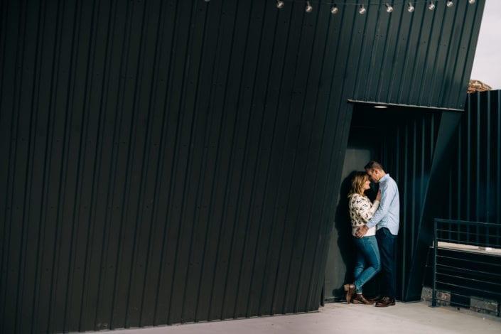 Denver Downtown Rooftop Portrait at Asterisk | Colorado Engagement Photographer