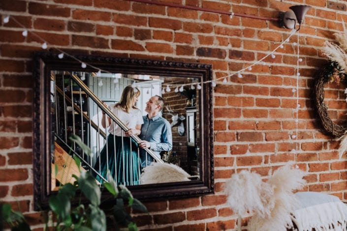 Urban Denver Home Portrait Reflection | Colorado Engagement Photographer